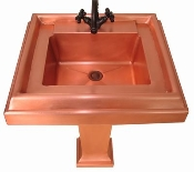Copper Pedestal Sink CS-02