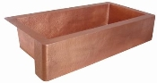 "Copper Kitchen Single Bowl Sink 40"" 42"" 44"""