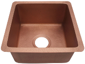 "Copper Bar Sink 15"" x 15"""