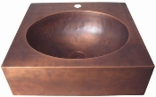 Copper Custom Vessel Sink 18""