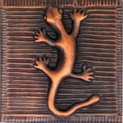 Copper Tiles Lizard Salamader
