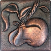 "Copper 4"" Tile Peach"