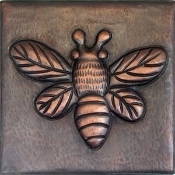 "Copper Tiles 4"" Bee"