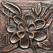 "Copper Tile 4"" Garden Series Flowers"