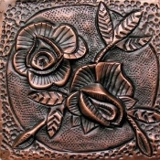 "Copper Tile 4"" Garden Series Flower #3"