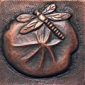 "Copper 4"" Tile Dragonfly"