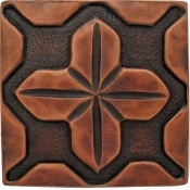 "Copper Tile 4"" Geometrical #3"