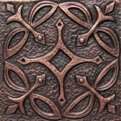 "Copper 4"" Tile Geometrical #4"