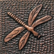 "Copper Tile 4"" Dragonfly #2"
