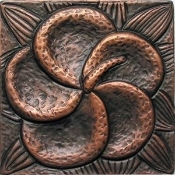 "Copper Tile 4"" Garden Series #7"