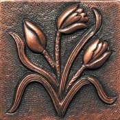 "Copper Tile 4"" Garden Series Bulrush Tiles"