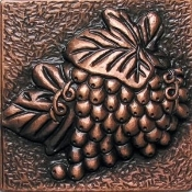 "Copper 4"" Tile Grapes"