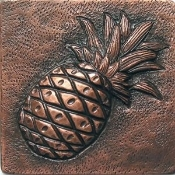 "Copper 4"" Tile Pineapple"