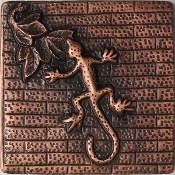 "Copper 4"" Tile Lizard Salamander"