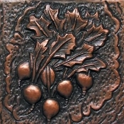 "Copper 4"" Tiles Radishes"