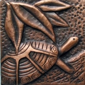 "Copper Tile 4"" Turtles"