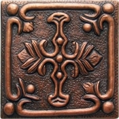 "Copper Tile 4"" Geometrical"