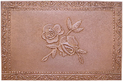 "Copper Fresco Flower Liner Mural 24"" x 36"""