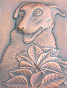 "Copper Mural 12"" x 16"" Dog"