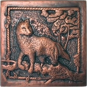 Copper Wolf Tile