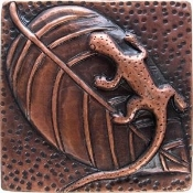 Copper Lizard Salamander Tile