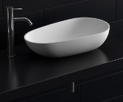 Cast Stone Egg Shapped Basin Sink