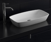 Cast Stone Basin Sink 24""