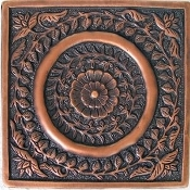 "Copper Tile 4"" Circle Design"