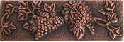 "Copper Border Tile Le Grape Liner 2"" x 6"""