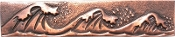 Copper Border Tile Sea Wave Liner