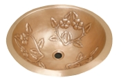 Copper Lavatory Sink Spring Round Or Oval