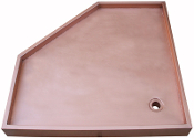 Copper Shower Pan NeoAngle, Copper Shower Pan Square, Copper Shower Pan Rectangle, Custom Copper Shower Pans