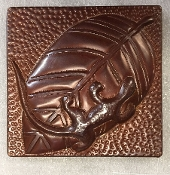 "Copper Tile 4"" CT-086 Lizard-Salamander In Stock"
