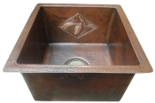 "Copper Bar Sink 15"" x 15"" Designs"