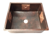 "Copper Bar Sink 12"" x 12"" Copper Design"