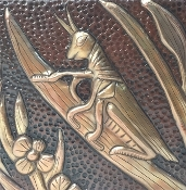 "Copper Tile 4"" Grasshoppers"