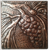 "Copper Tiles 6"" Pine Cones In Stock"