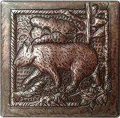 Copper Black Bear Tile