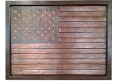 Copper Mural American Flag