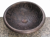 Cast Bronze Sink Grape Design