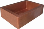 "Copper Kitchen Vessel Single Bowl Sink 30"" 33"" 36"" Counter Top Sink"