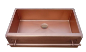 "Copper Kitchen Single Bowl Sinks 33"" x 22"""