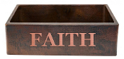 "Copper Kitchen Sink Single Bowl 33"" x 21"" Bible Sayings"