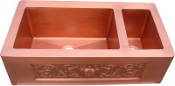 "Copper Kitchen Double Sink 80/20 30"" 33"" 36"""