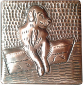 Copper Tile Dog
