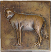 Copper Tile Fox
