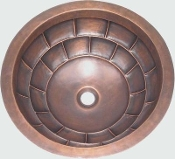 Copper Round Lavatory Sinks