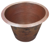 Copper Bar Sink Round 22""