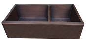 Copper Kitchen Double Sink 60/40