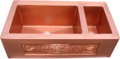 "Copper Kitchen Double Sink 80/ 20 30"" 33"" 36"""